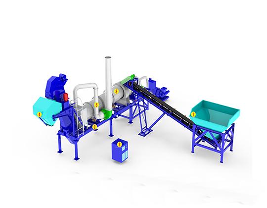 Modelo planta procesadora de asfalto móvil