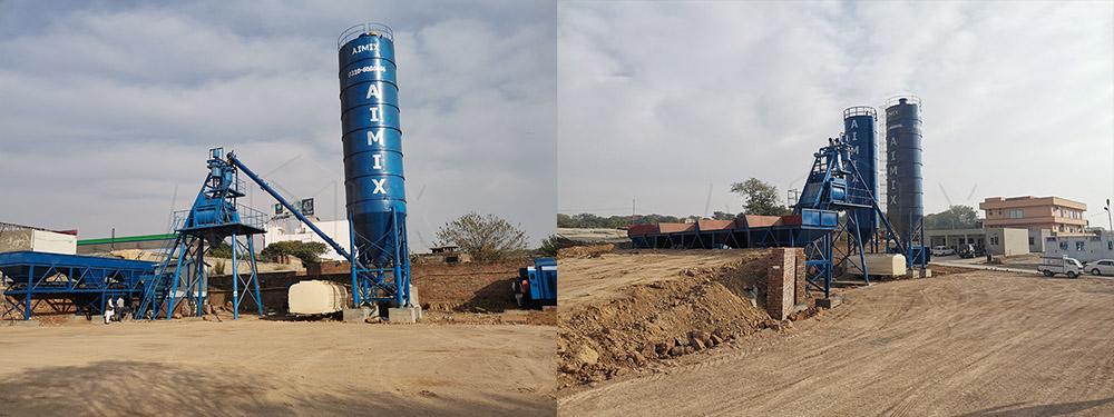 Planta De Concreto Premezclado AJ50 En Pakistán