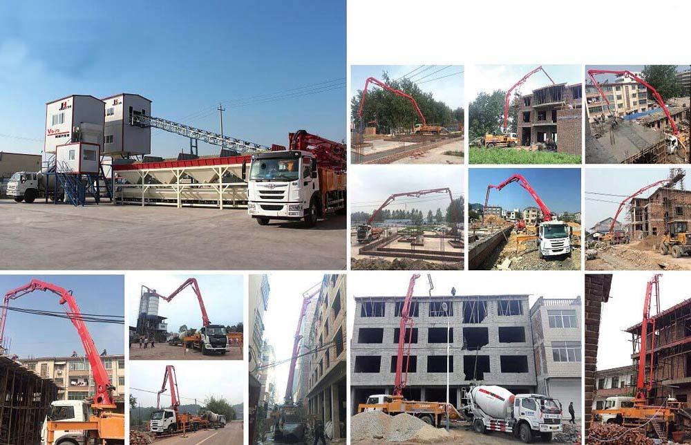 Bomba Pluma De Concreto En Sitios De Construcción
