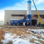Instalación De Planta De Hormigón Móvil De 60m3 En Uzbekistán
