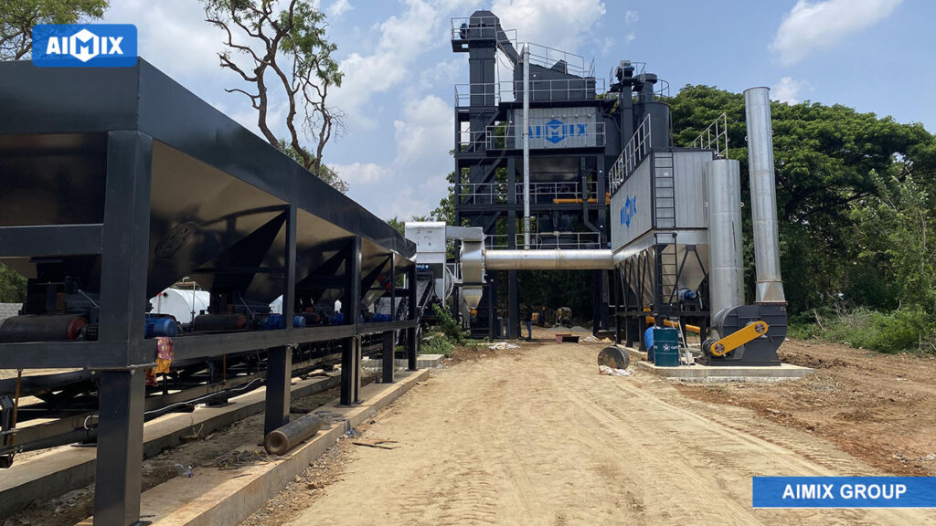 AIMIX Planta De Asfalto De ALQ100 Instaló En Sri Lanka